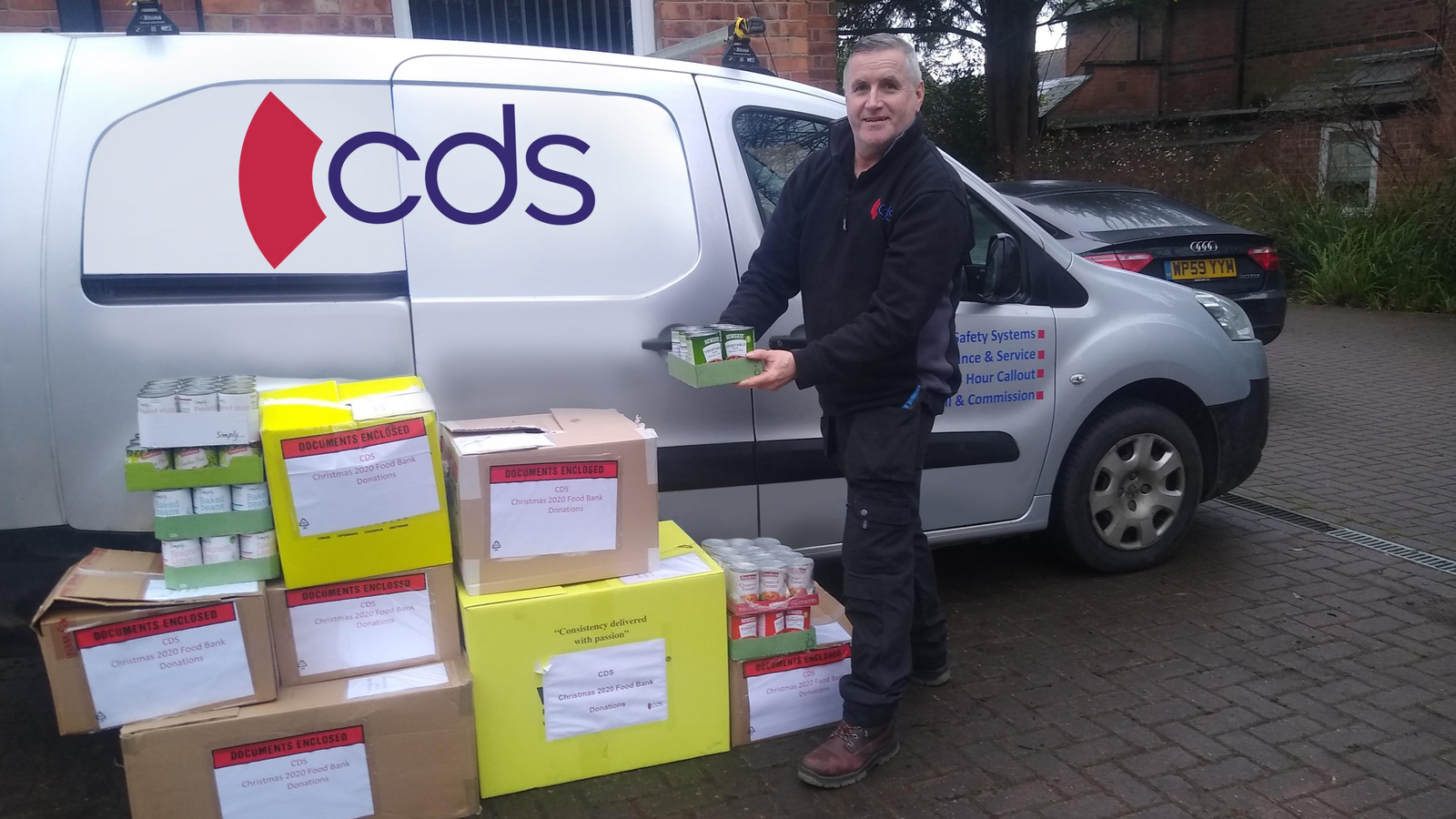 CDS helps families in need with Christmas food bank donation